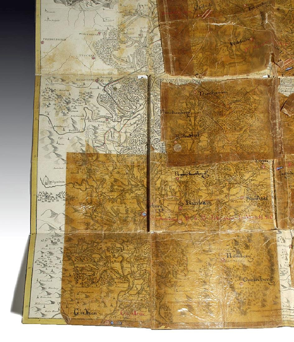 18th C. French Map w/ Oiled Paper, ex-Sotheby's - 7