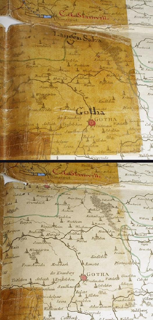 18th C. French Map w/ Oiled Paper, ex-Sotheby's - 8