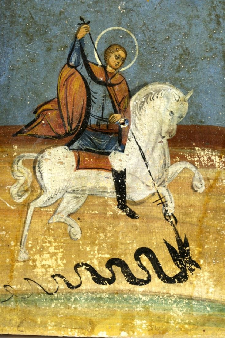 19th C. Russian Icon - St. George of Lydda - 2