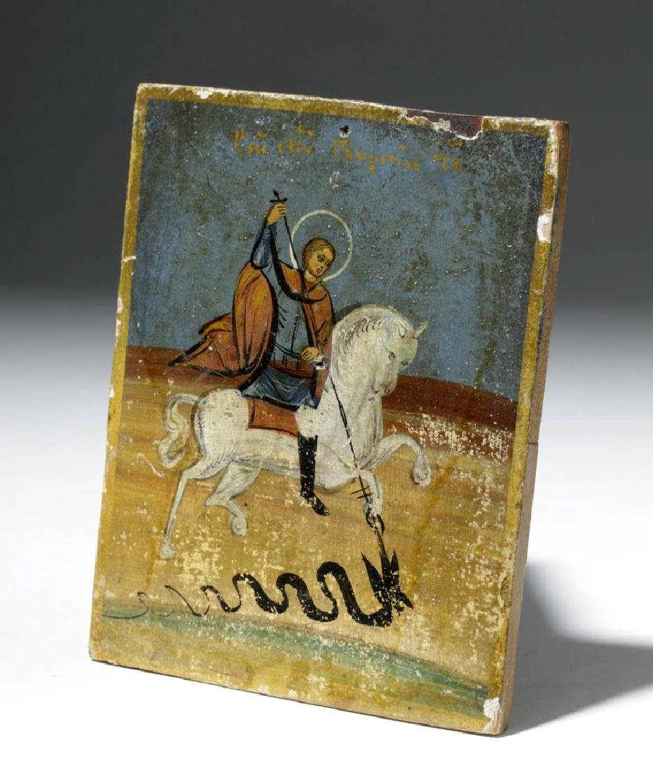 19th C. Russian Icon - St. George of Lydda - 4