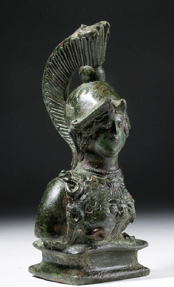 Superb Large Roman Bronze Fitting - Minerva / Athena