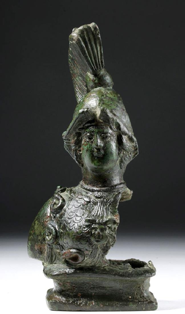 Superb Large Roman Bronze Fitting - Minerva / Athena - 2