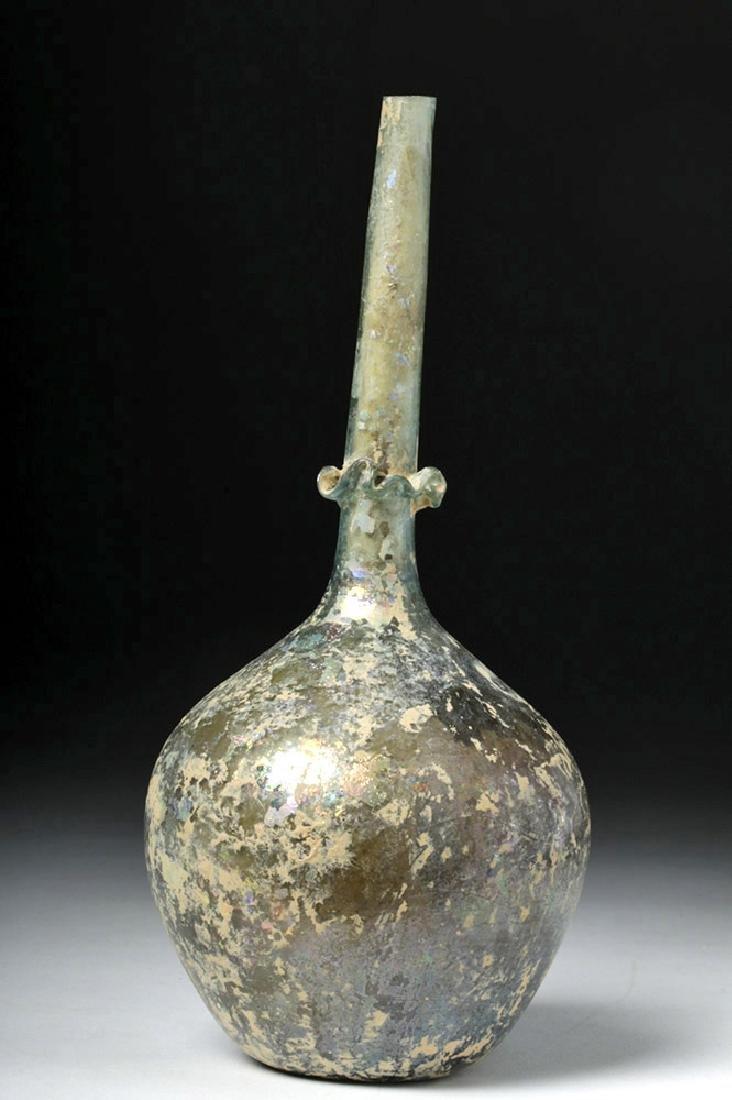 Late Roman Decorated Glass Perfume Flask / Sprinkler