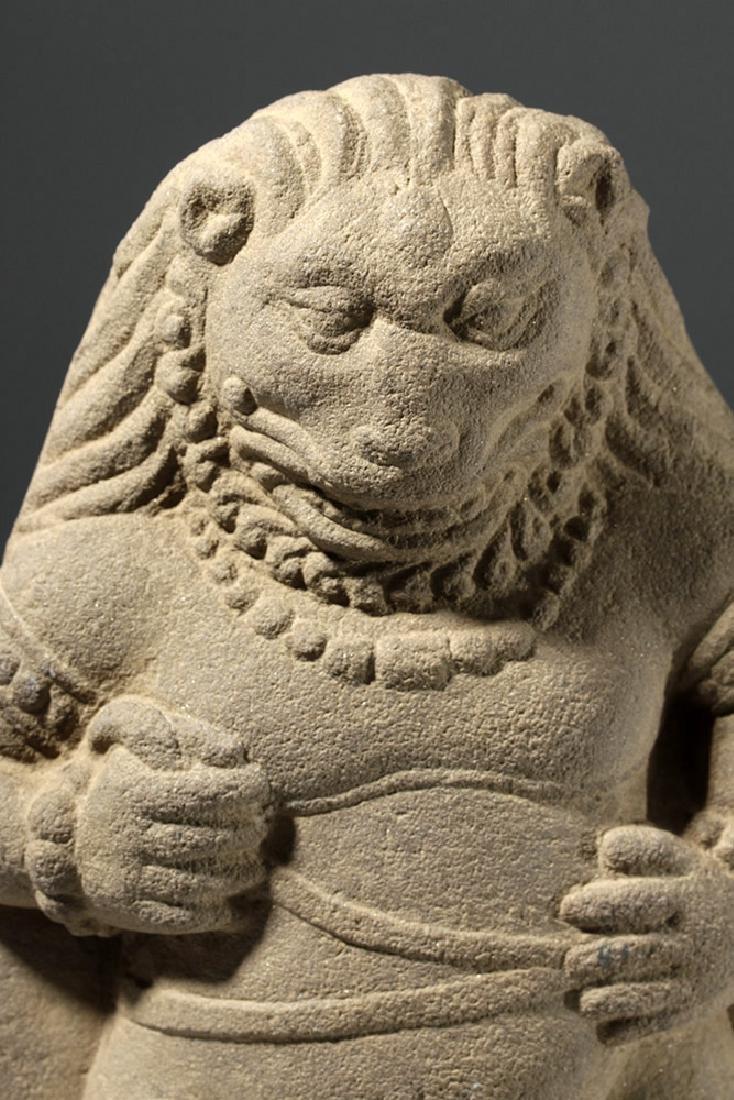 Rare / Fine Hindushahi Stone Statue of Narasimha - 6