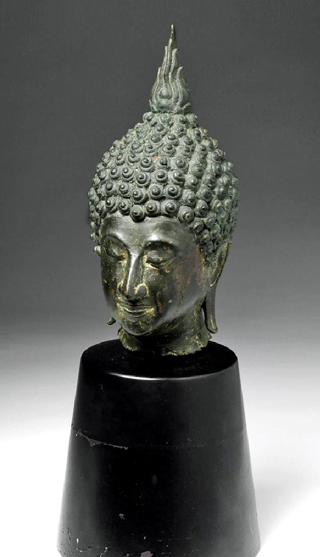 Thai Ayuthia Bronze Head of Buddha