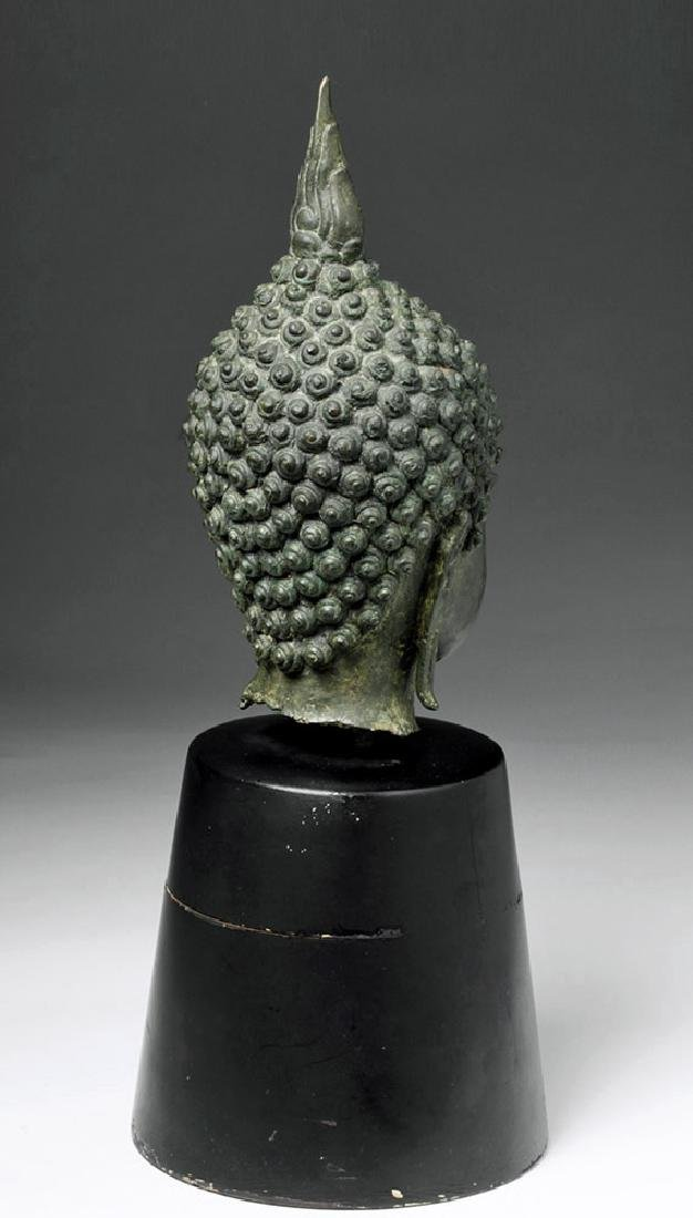Thai Ayuthia Bronze Head of Buddha - 3