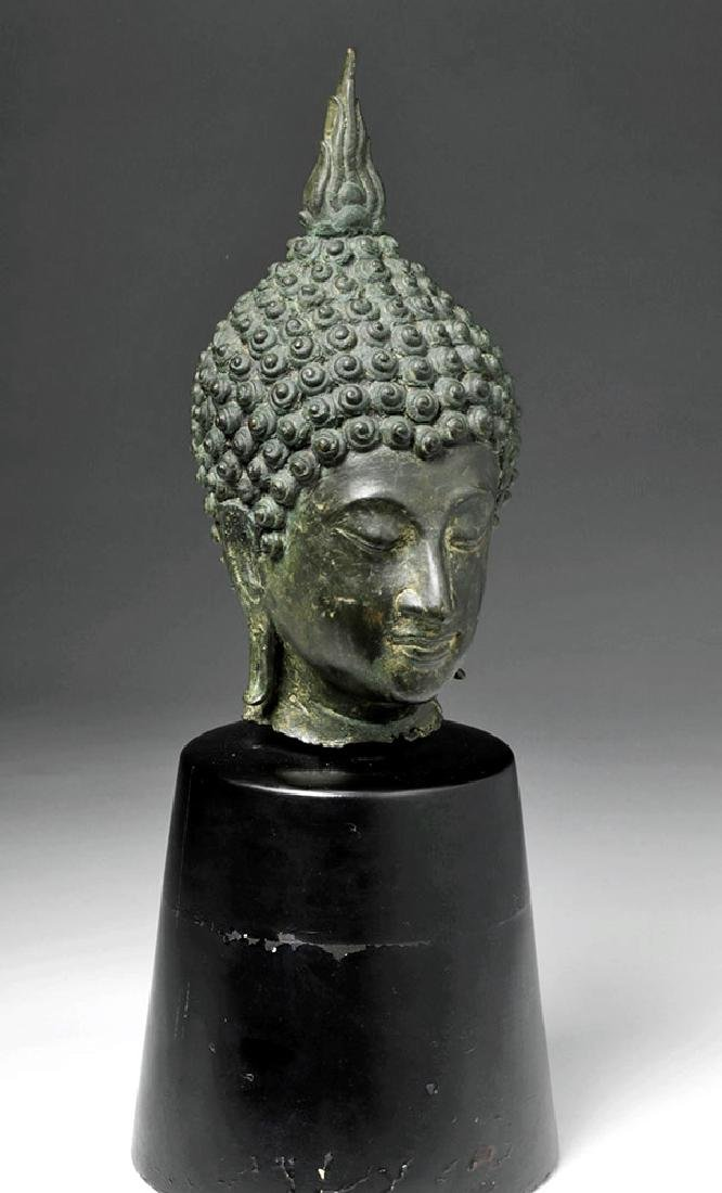Thai Ayuthia Bronze Head of Buddha - 4