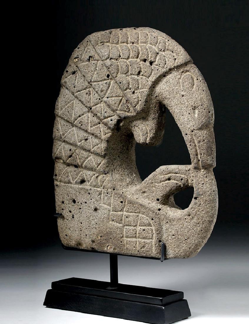 Pre Columbian Mayan Armadillo Stone Hacha