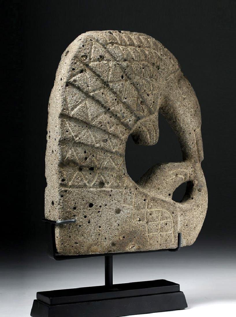 Pre Columbian Mayan Armadillo Stone Hacha - 2
