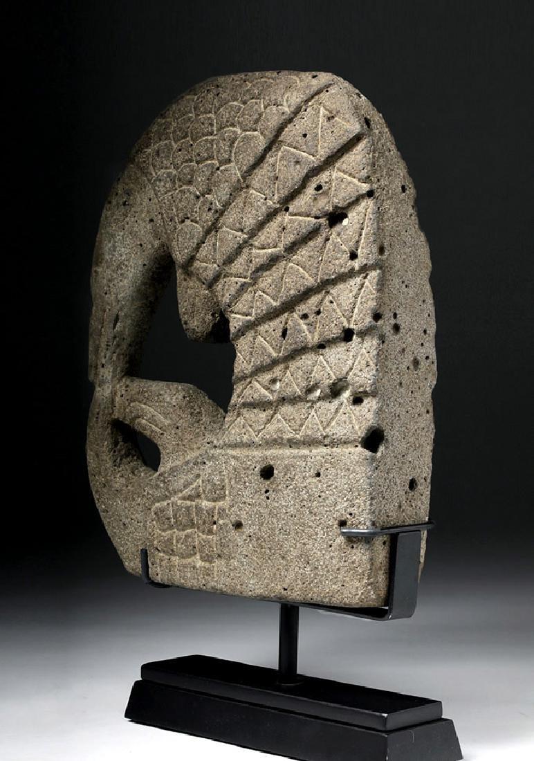 Pre Columbian Mayan Armadillo Stone Hacha - 3