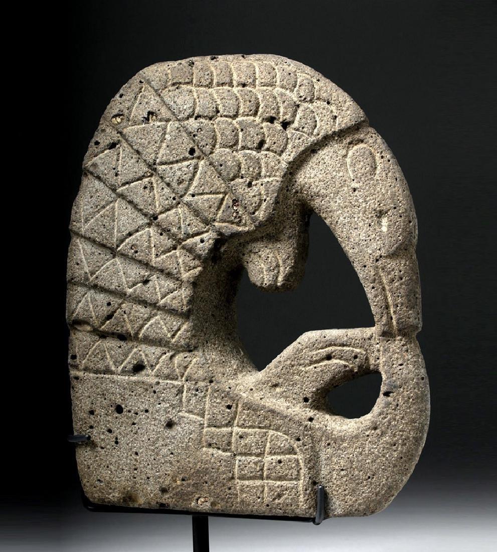 Pre Columbian Mayan Armadillo Stone Hacha - 5