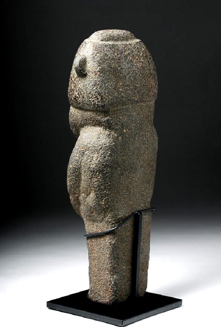 Pre-Columbian Mexico Tarascan Stone Male Figure - 2