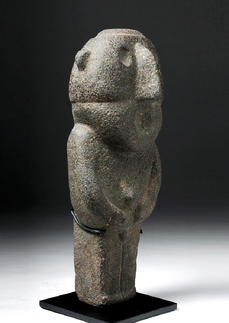 Pre-Columbian Mexico Tarascan Stone Male Figure - 4