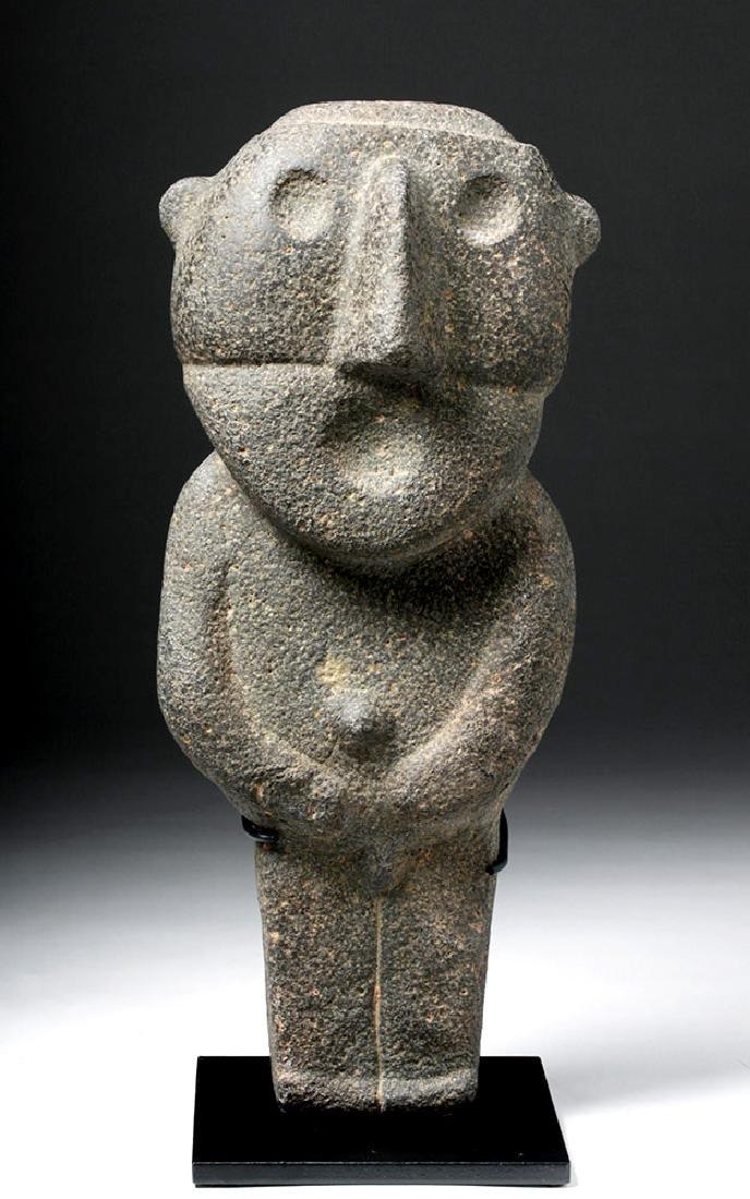 Pre-Columbian Mexico Tarascan Stone Male Figure - 5