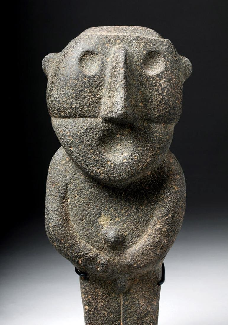 Pre-Columbian Mexico Tarascan Stone Male Figure - 6