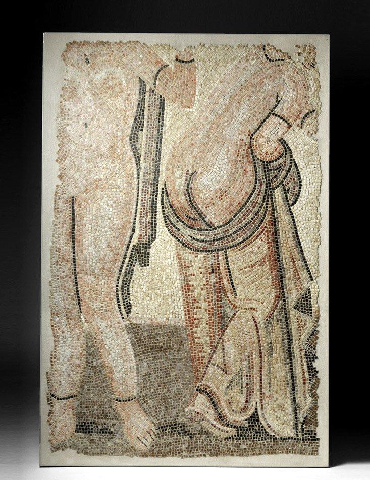 Roman Polychrome Mosaic - Bathhouse Scene