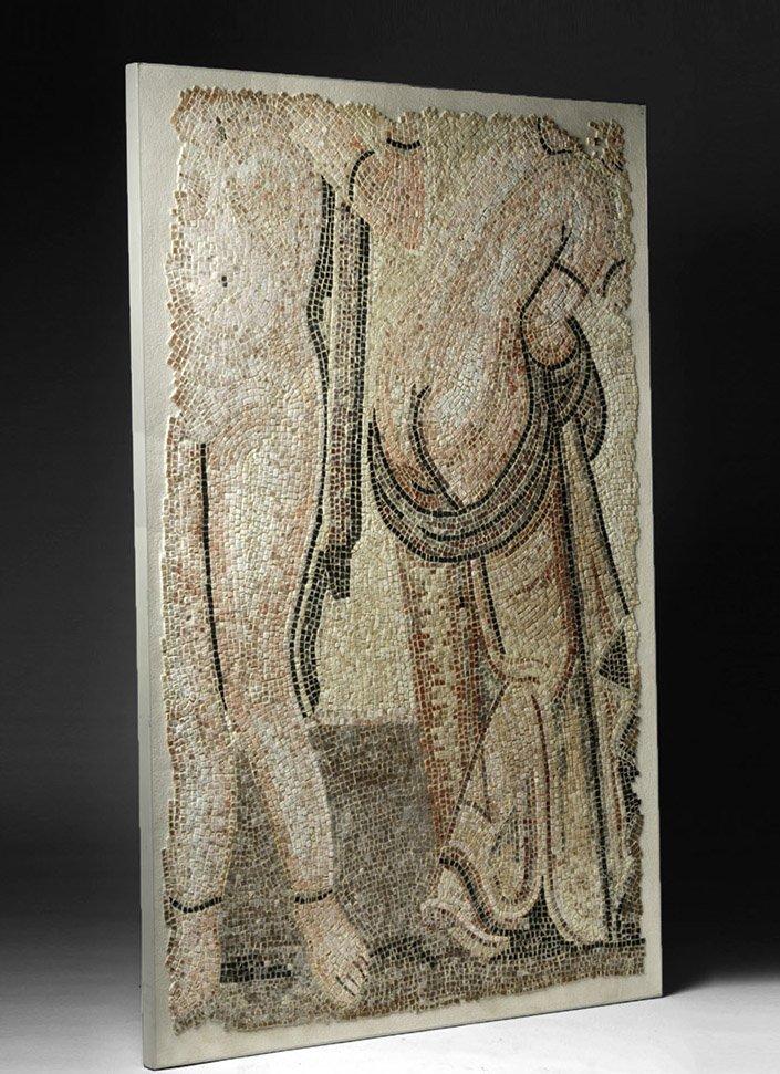 Roman Polychrome Mosaic - Bathhouse Scene - 2