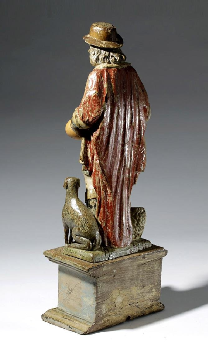 18th C. Mexican Wood Santo - St. Jerome - 2