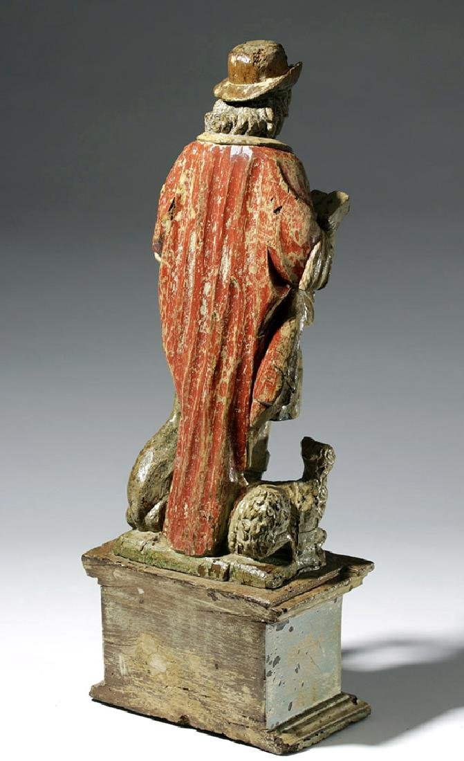 18th C. Mexican Wood Santo - St. Jerome - 3