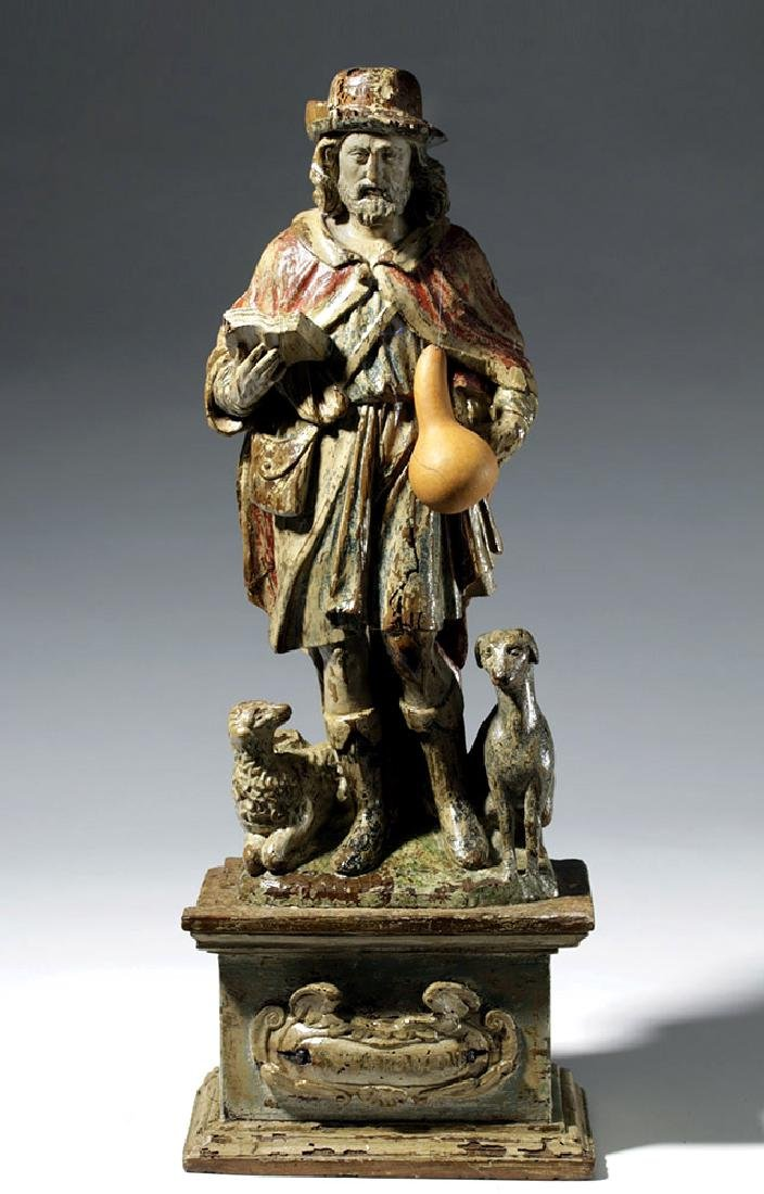 18th C. Mexican Wood Santo - St. Jerome - 5