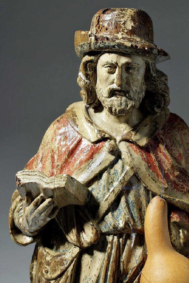 18th C. Mexican Wood Santo - St. Jerome - 6