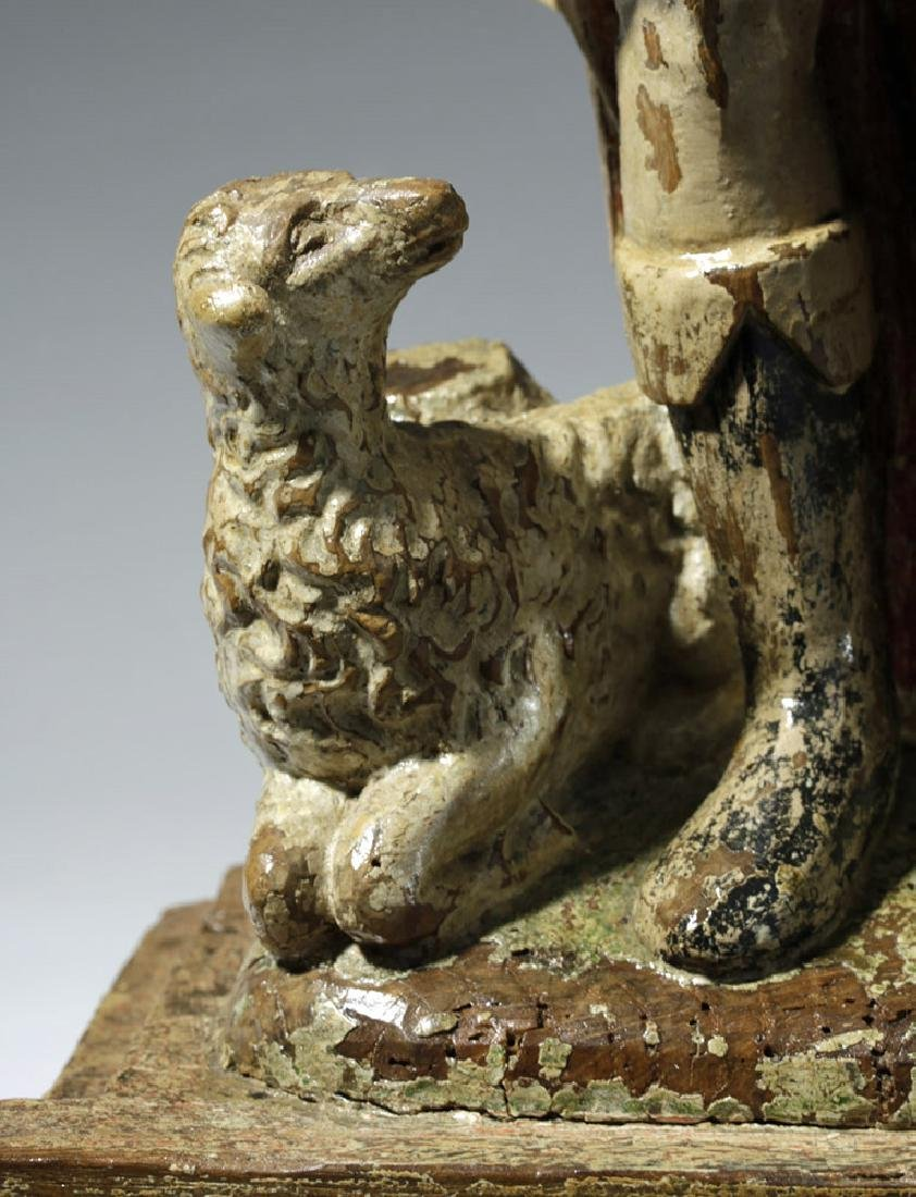 18th C. Mexican Wood Santo - St. Jerome - 7