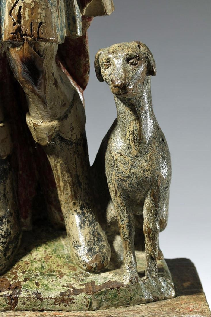 18th C. Mexican Wood Santo - St. Jerome - 8