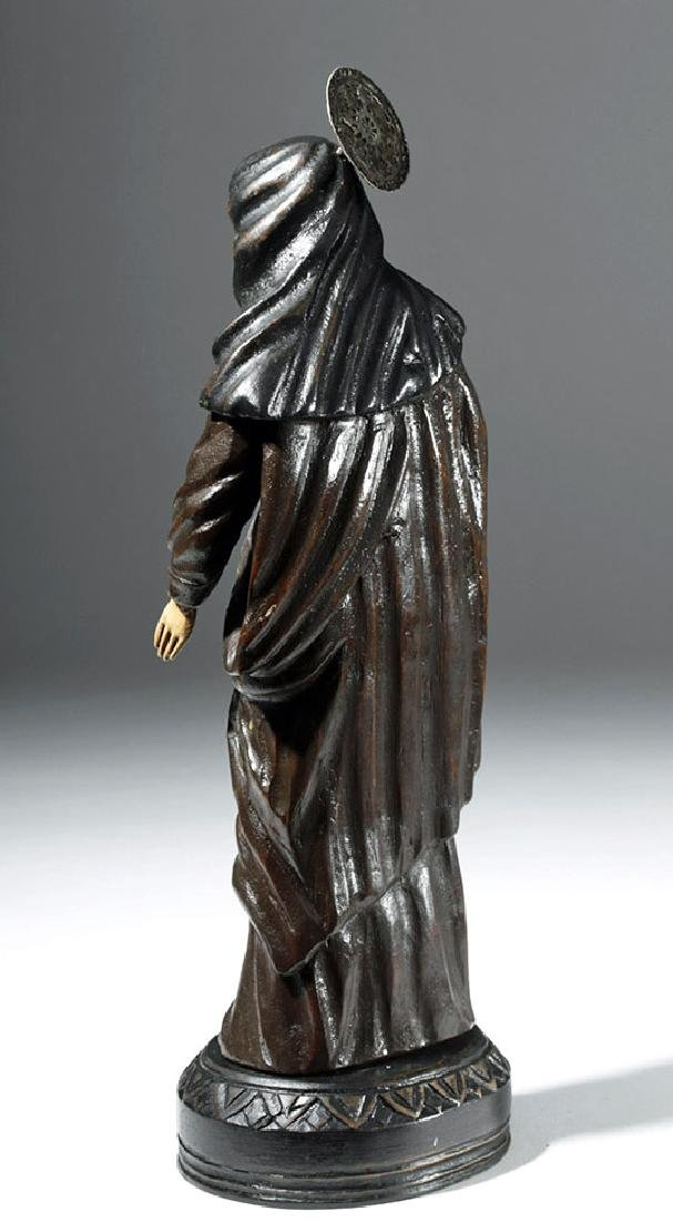 19th C. Mexican Wood Santo - St. Rita of Cascia - 2