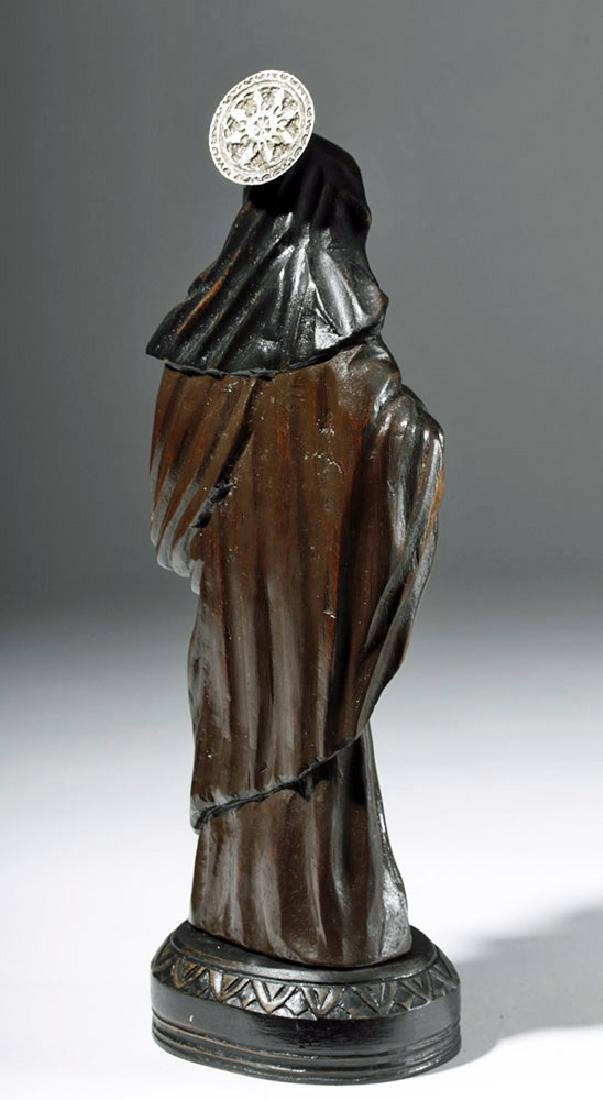 19th C. Mexican Wood Santo - St. Rita of Cascia - 3