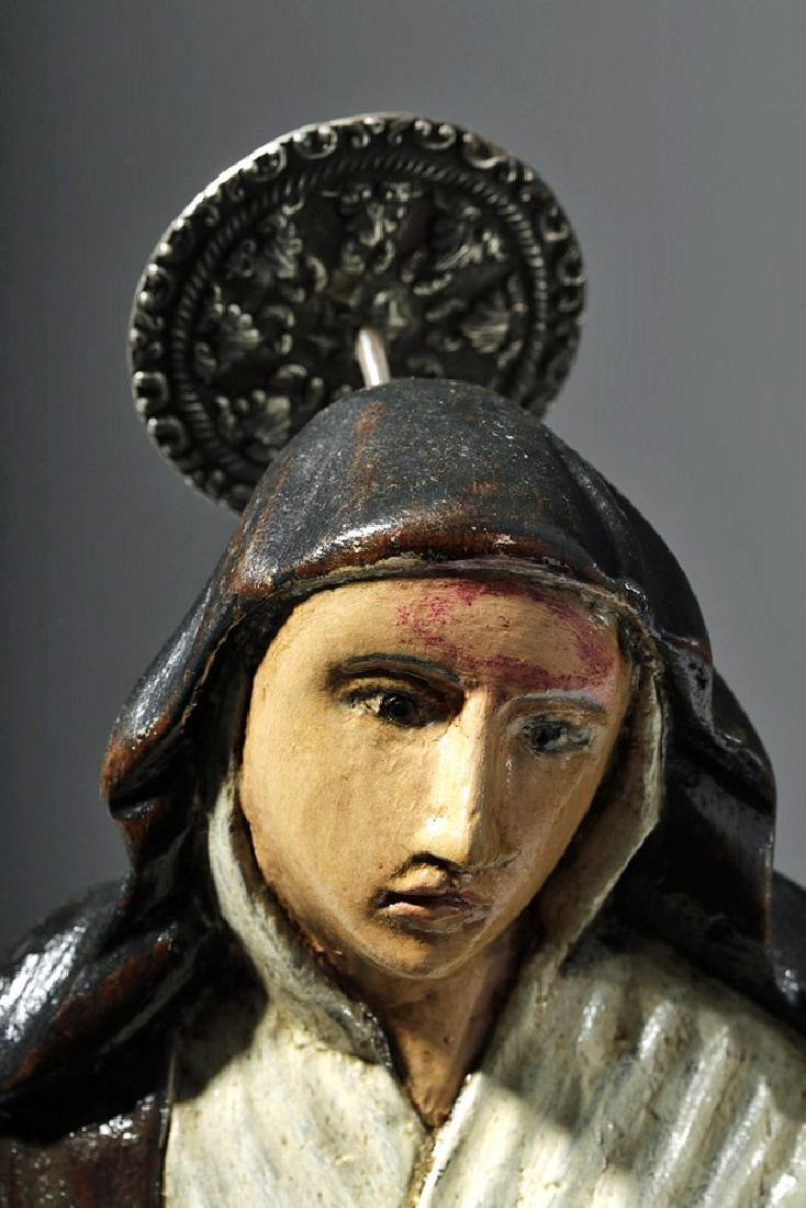 19th C. Mexican Wood Santo - St. Rita of Cascia - 6