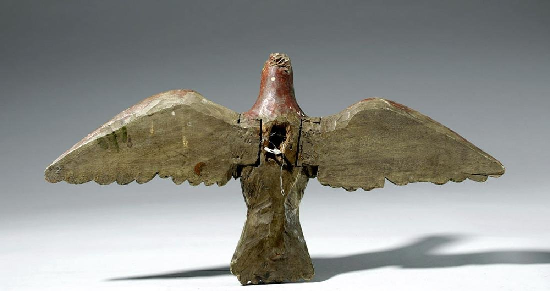 19th C. Mexican Painted Wood Dove / Santo - Holy Spirit - 5