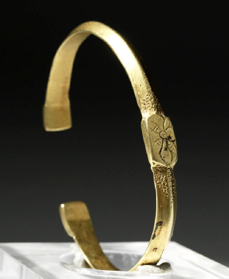 Ancient Byzantine 22K Gold Bracelet - Gorgeous!
