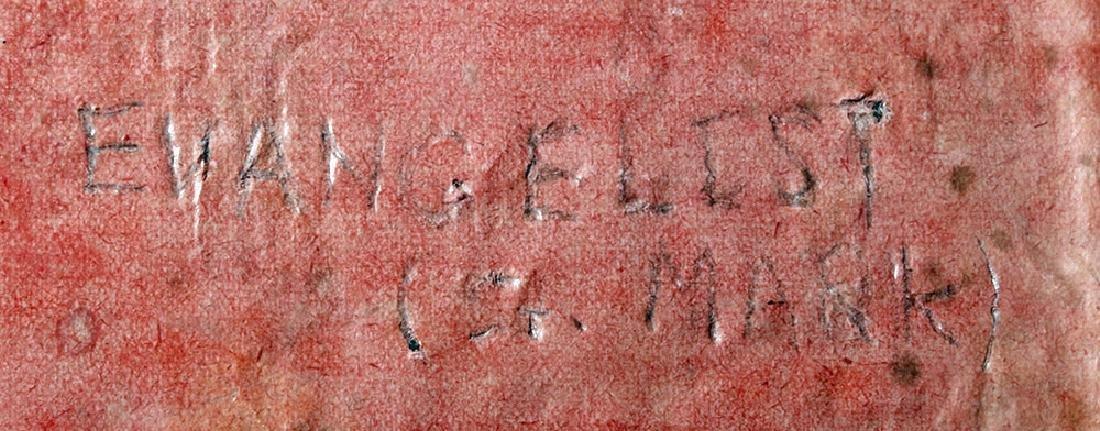 19th C. European Reliquary of Saint Mark, Gilded Thread - 6