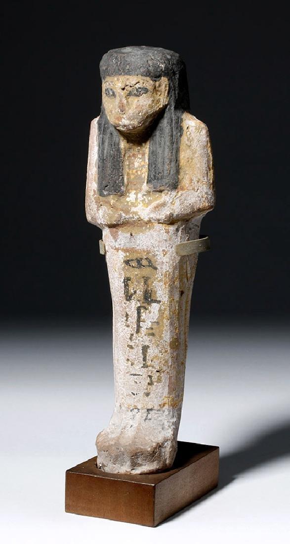 Tall Egyptian Polychrome Terracotta Ushabti