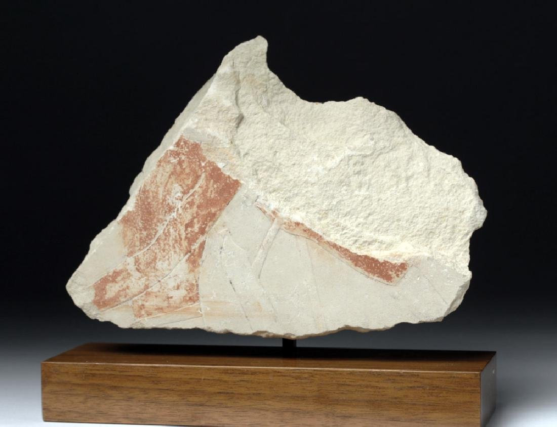 Egypt Sandstone Relief Torso and Arm Fragment