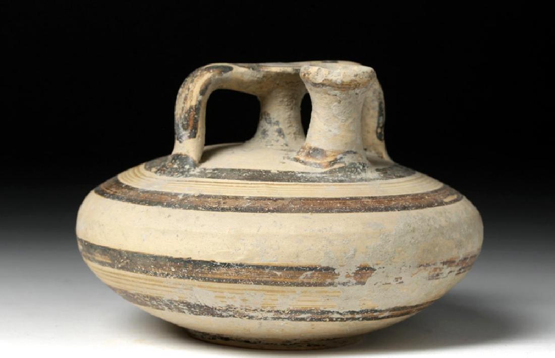 Mycenaean Pottery Stirrup Vessel - Squat Form