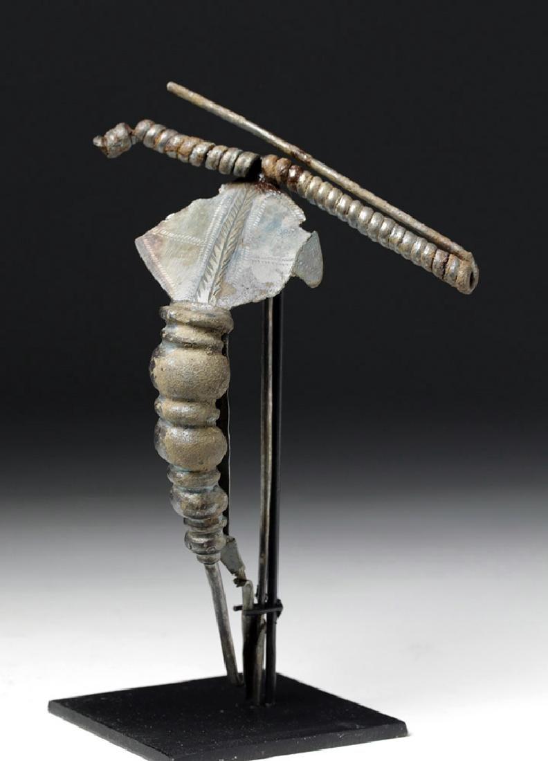 Huge La Tene / Northern Greek Silver Fibula