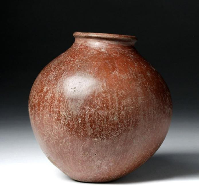 Egyptian Pre-Dynastic Redware Pottery Acorn Jar