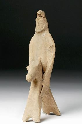 Cypriot Archaic Terracotta Horse and Rider