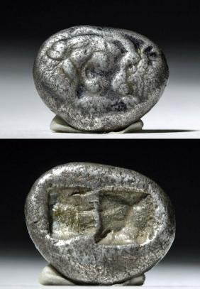 Lydia Croesus Silver Hemistater Coin - 550 BCE!