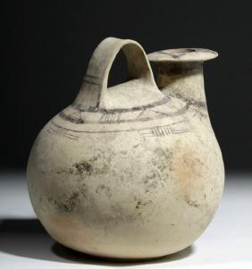 Greek Daunian Bichrome Pottery Askos