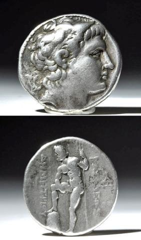 Macedonian Silver Teradrachm - Demetrius - 300 BCE