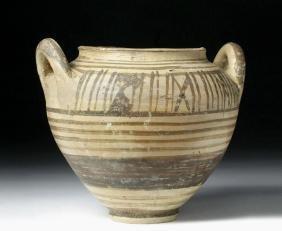 Etruscan Pottery Lebes Gamikos /  Stamnos