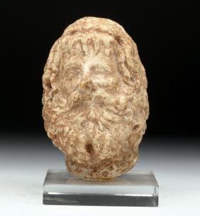 Roman Alabaster Head of Serapis