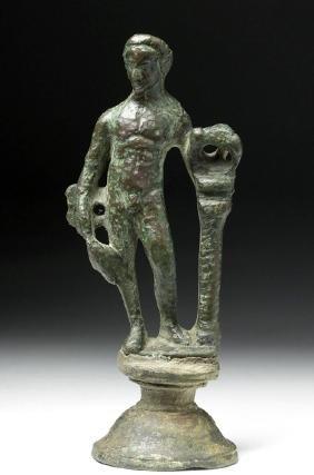 Roman Bronze Statue of Mercury