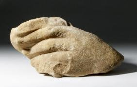 Roman Marble Sculpture of Over-sized Hand