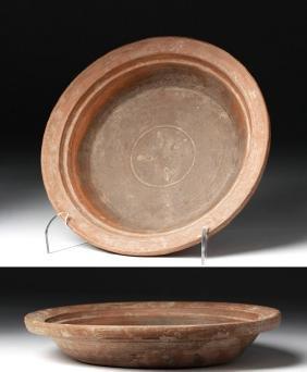 Roman Redware Plate w/ Planta-Pedis
