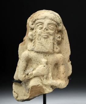 Babylonian Pottery Plaque - Nergal, Underworld God