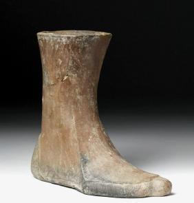 Ancient Near Eastern Terracotta Votive Boot