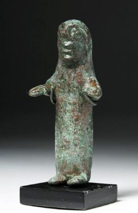 Asia Minor Bronze Votive Statue